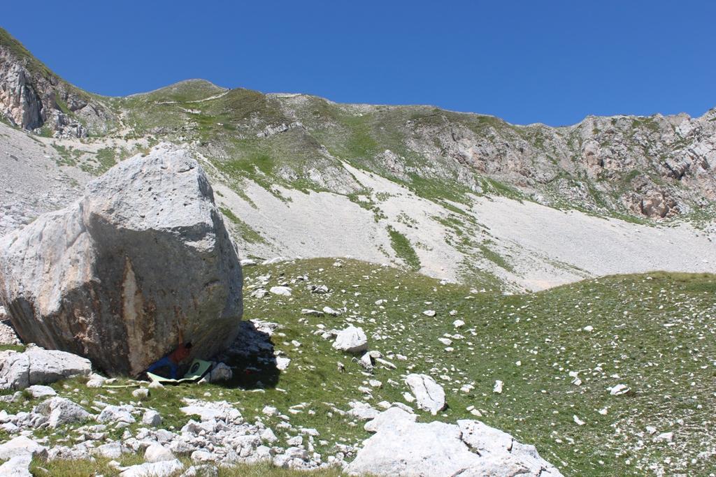 Fare boulder al Monte Aquila