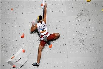Matteo Stefani paraclimbing Edinburgo