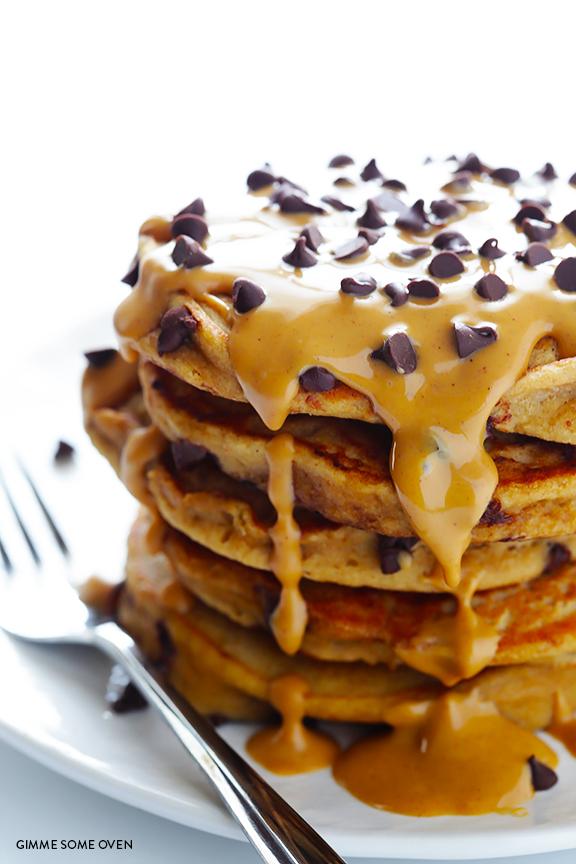 Pancake e burro d'arachidi