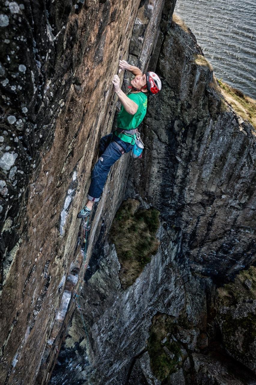 James Pearson arrampicata trad placca