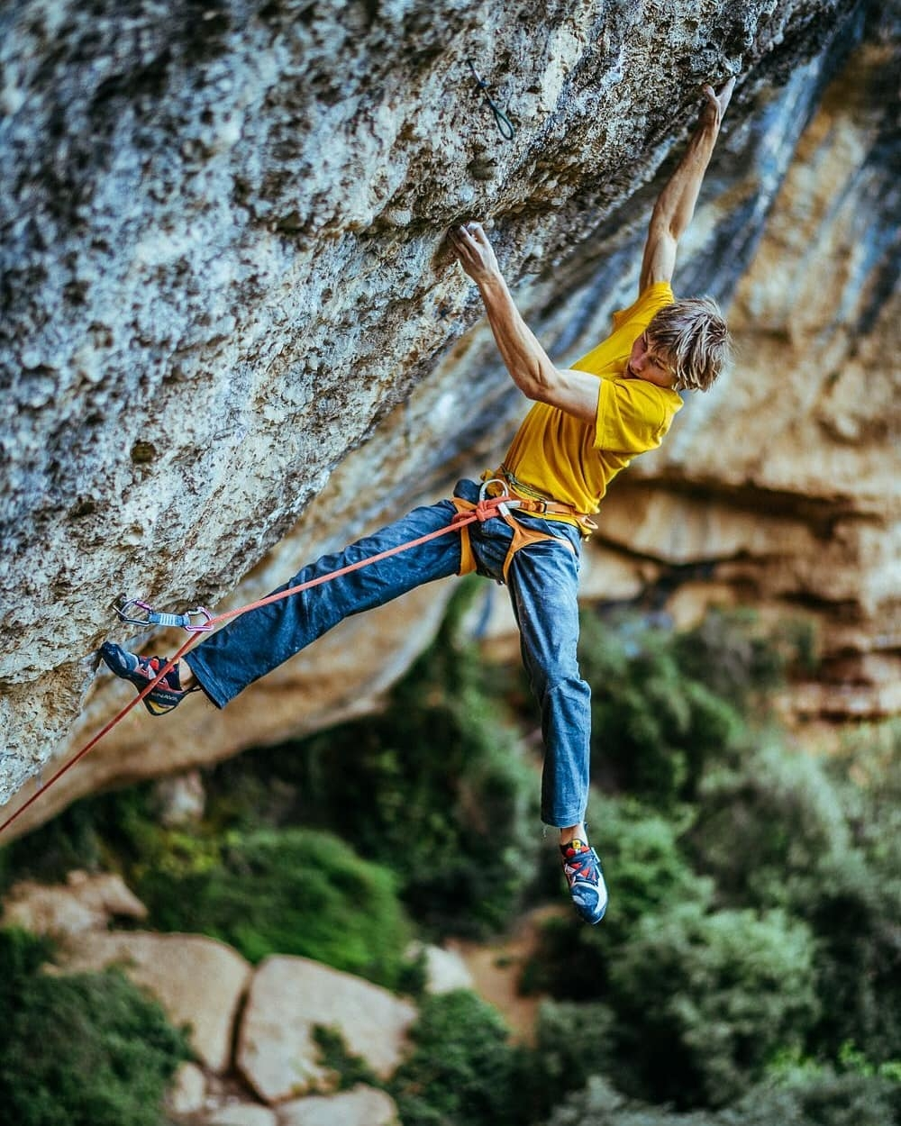 Alex megos arrampicata Perfecto Mundo 9b+