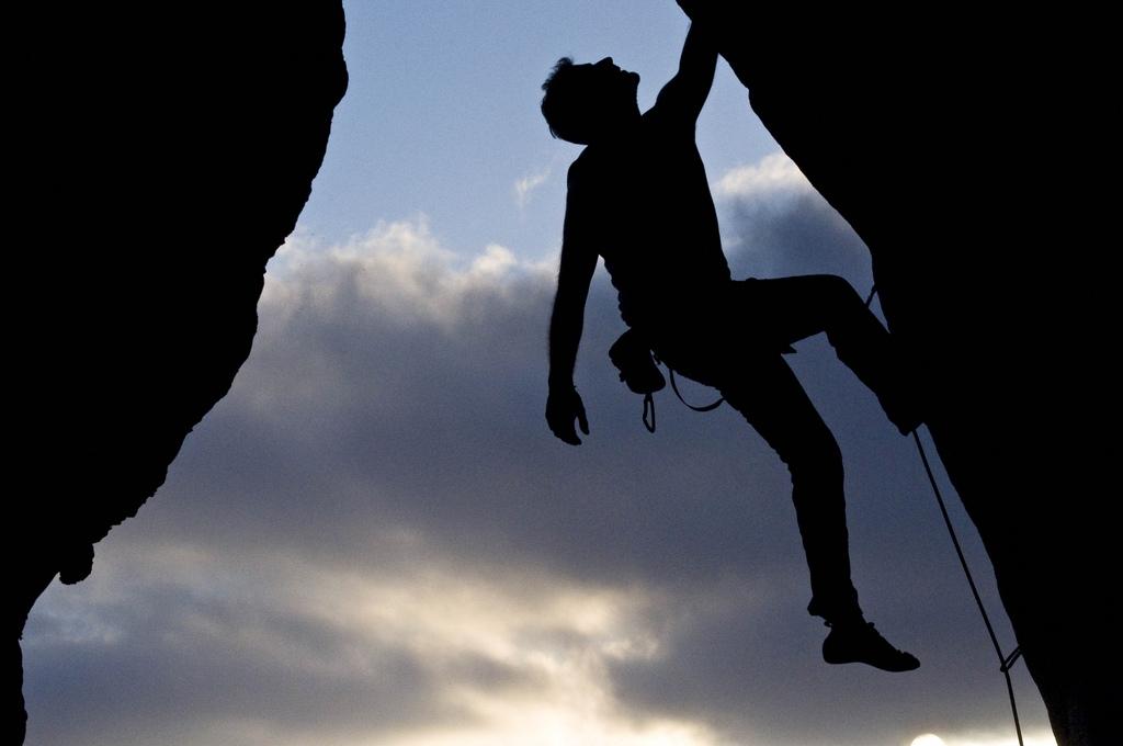 arrampicata a vista falesia