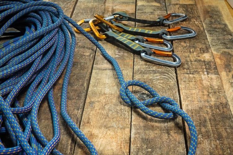controllo corda da arrampicata