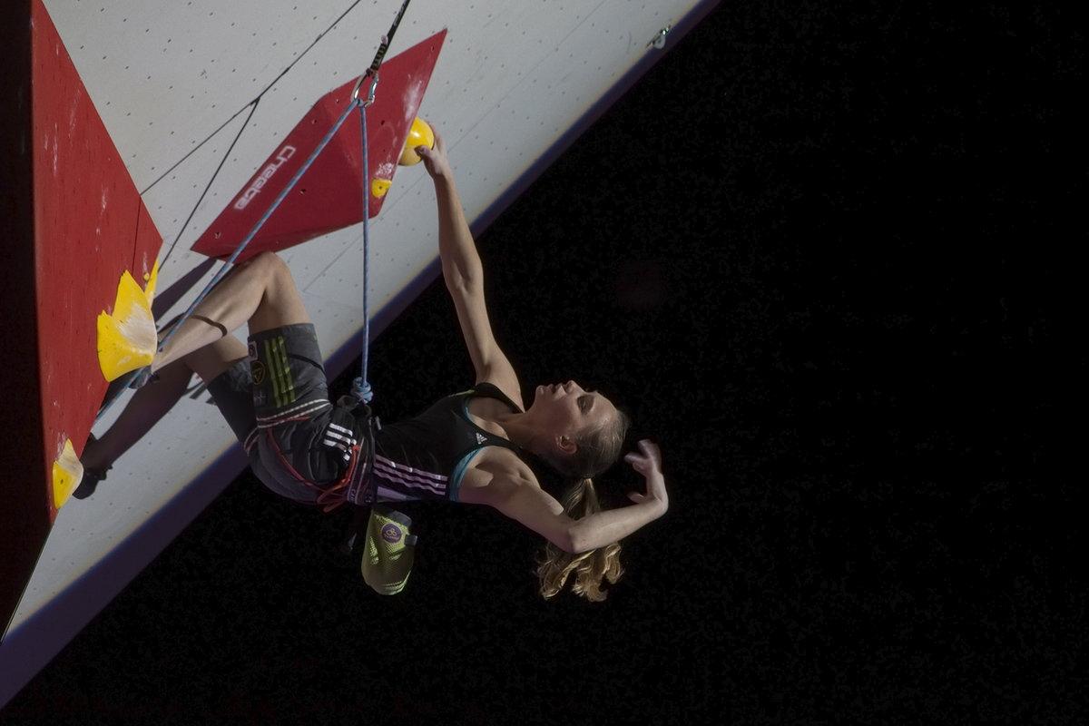Janja Garnbret gara arrampicata