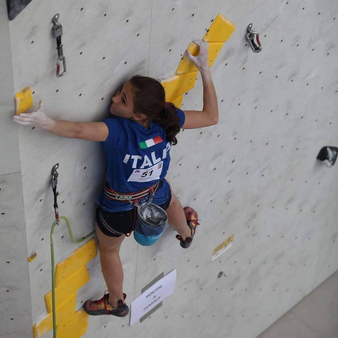 Laura Rogora lead climb Brunico