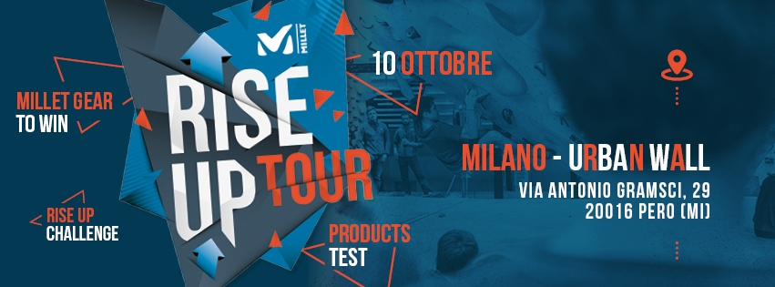 Il Millet Rise Up Tour 2018 allo Urban Wall di Pero